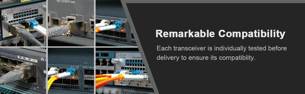 Gigabit SFP Multimode Module 1000Base-SX Mini-GBIC Transceiver Compatible for Cisco GLC-SX-MMD/GLC-SX-MM/SFP-GE-S,Meraki MA-SFP-1GB-SX,Ubiquiti,Netgear(MMF,Duplex LC, 850nm, 550m,DDM,Hot Pluggable)
