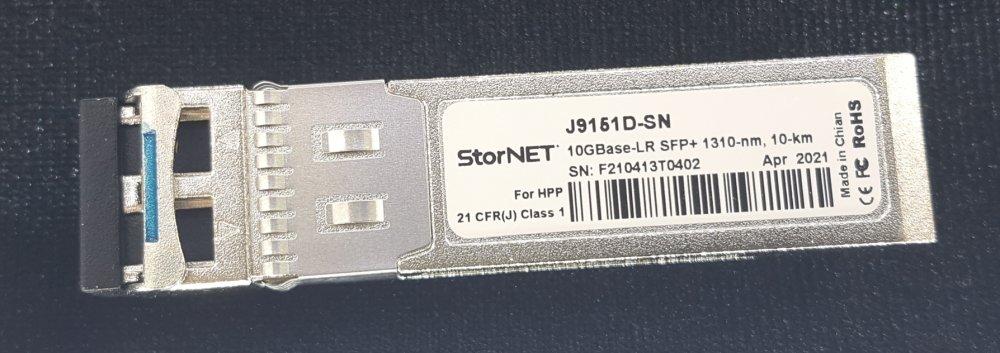 HPE J9151D HPE Aruba uyumlu SFP+ Transceiver StorNET