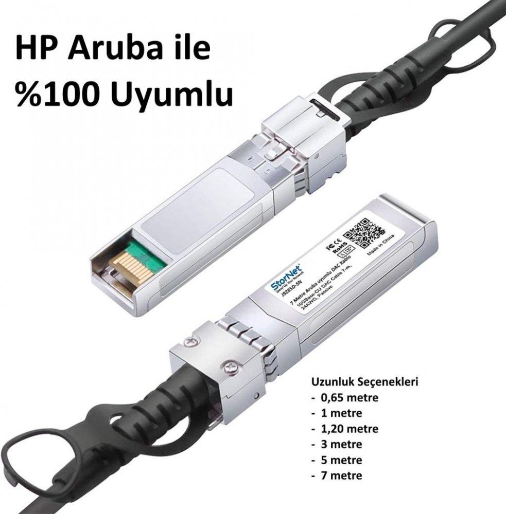 HPE Aruba J9285D ile uyumlu 10G SFP+ to SFP+ DAC Cable, 7metre uzunlukta StorNET markalı olarak en uygun fiyat ve Stok ile satışa sunuldu.