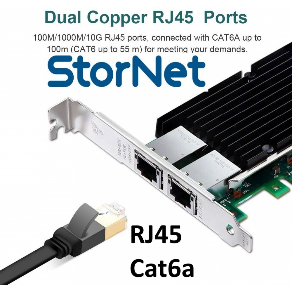 2 Port RJ45 Ethernet Kart 10 Gigabit intel X540