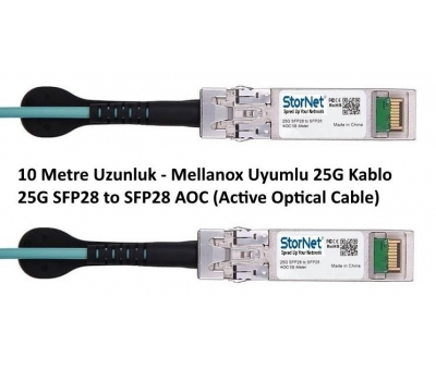 10metre 25G SFP28 to SFP28 AOC Active Optical Cable Mellanox Uyumlu