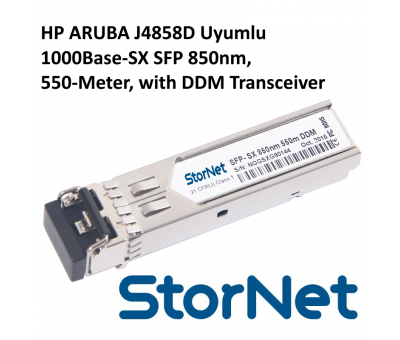 HP ARUBA J4858D Uyumlu 1000Base-SX SFP 850nm, 550-Meter, with DDM Transceiver title=